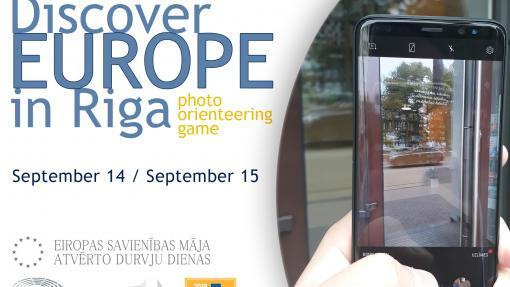 "photo orienteering game ""Discover Europe in Riga!"""